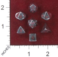 Dice : MINT41 CRYSTAL CASTE QUARTZ ELECTOPLATED PLATINUM