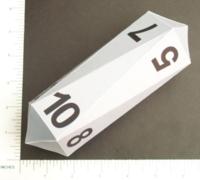 Dice : PAPER D10 CRYSTAL CASTE