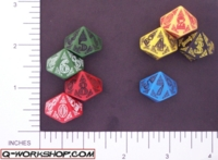 Dice : D10 OPAQUE ROUNDED SOLID Q WORKSHOP CELTIC II 03