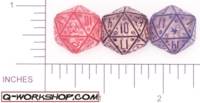 Dice : D20 CLEAR ROUNDED SOLID Q WORKSHOP NEURO 01