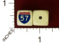 Dice : MINT32 HOMEMADE US INTERSTATE 57 01