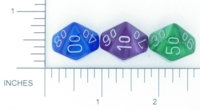 Dice : D10 OPAQUE ROUNDED IRIDESCENT CHESSEX VELVET 03