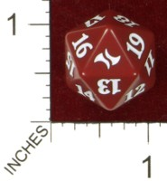 Dice : D20 OPAQUE ROUNDED SOLID WIZARDS OF THE COAST MTG FATE REFORGED 01