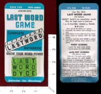 Dice : MINT39 JON WEBER MANUFACTORY LAST WORD GAME