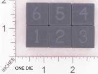 Dice : MINT18 ACE PRECISION NUMBERED BLACK PVC 01