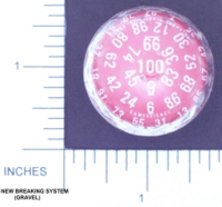 Dice : D100 RED AND WHITE LARGE 02 NEW STOP