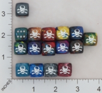 Dice : MINT16 CHESSEX SECRET SOCIETY SKULL AND BONES 01