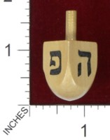 Dice : MINT38 ALEF TO TAV DREIDEL ISRAEL WOODEN