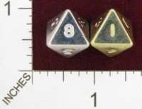Dice : D8 OPAQUE ROUNDED SOLID CRYSTAL CASTE METALIC 01