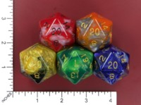 Dice : MINT52 METALLIC DICE GAMES COMBO ATTACK
