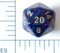Dice : D20 OPAQUE ROUNDED IRIDESCENT CHESSEX SCARAB
