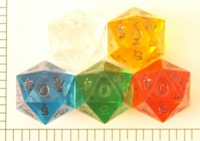 Dice : D20 CLEAR SHARP SOLID JUMBO