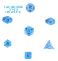 Dice : STONE MULTI CRYSTAL CASTE HOWLITE TURQUOISE