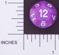Dice : D12 OPAQUE ROUNDED SWIRL CHESSEX WILD 01
