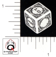 Dice : NON NUMBERED OPAQUE ROUNDED SOLID Q WORKSHOP UNKNOWN 04