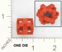Dice : MINT25 SHAPEWAYS MCTRIVIA CROSS D6 DIE 01