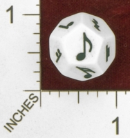 Dice : D12 OPAQUE ROUNDED SOLID  ERIC HARSHBARGER MUSICAL DIE 01
