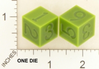Dice : MINT18 ACE PRECISION NYLON GREEN NUMBERED