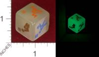 Dice : MINT32 UNKNOWN CHINESE GLOW IN THE DARK DICE 02
