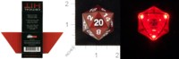 Dice : MINT25 THINK GEEK CRITICAL HIT FLASHING D20 01