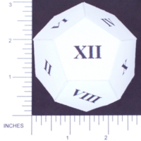 Dice : PAPER D12 MY DESIGN ROMAN 01