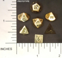 Dice : METAL BRASS MULTI 01 CRYSTAL CASTE 02