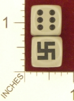 Dice : MINT23 CHESSEX CUSTOM FOR REVERSEMOTION SWASTIKA 01