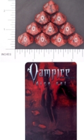 Dice : D10 OPAQUE ROUNDED SPECKLED WW REQUIEM