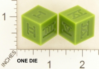 Dice : MINT18 ACE PRECISION NYLON GREEN ROMAN NUMERALS