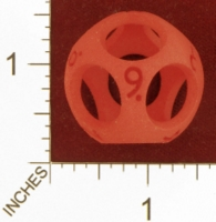 Dice : MINT26 SHAPEWAYS CLSN HOLLOW D9 NINE SIDED DIE 01