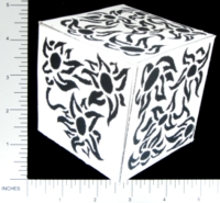 Dice : PAPER D06 Q-WORKSHOP DICE DESIGN CONTEST NOVEMBER 2007 MARCIN OSZCZYK 02 FLOWERS