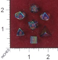 Dice : MINT41 CRYSTAL CASTE QUARTZ ELECTOPLATED RAINBOW AURA