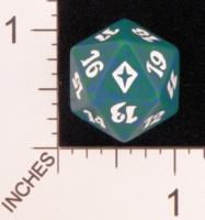 Dice : D20 OPAQUE ROUNDED SPECKLED MTG LIFE COUNTERS WORLDWAKE 05