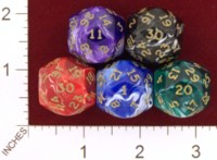 Dice : D30 OPAQUE ROUNDED SWIRL CHESSEX SILK 01
