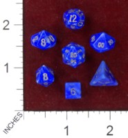 Dice : MINT41 CRYSTAL CASTE HOWLITE DYED BLUE