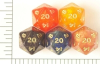 Dice : D20 OPAQUE ROUNDED IRIDESCENT CC ANCIENTS