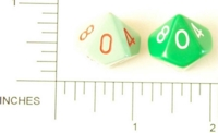 Dice : D10 OPAQUE ROUNDED SOLID GREEN
