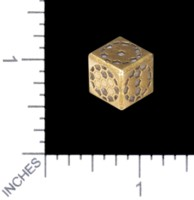 Dice : MINT56 TRAYSER METAL WORKS BRONZE D6 HEX