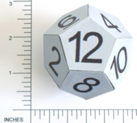 Dice : PAPER D12 NUMBERED