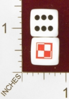 Dice : MINT25 CHESSEX CUSTOM FOR EBAY RACERSKA POLISH AIR FORCE CHECKERBOARD 01