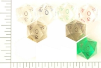Dice : D20 CLEAR SHARP SOLID 2