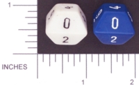 Dice : D10 OPAQUE ROUNDED SOLID WIERD 02