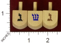 Dice : MINT34 UNKNOWN DREIDEL WOODEN 03