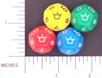 Dice : D12 OPAQUE ROUNDED SOLID KOPLOW JESTER 01