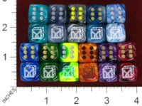 Dice : MINT37 CHESSEX DICE MANIACS CLUB LOGO OLD 06 SWIRL