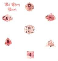 Dice : STONE MULTI CRYSTAL CASTE QUARTZ RED CHERRY