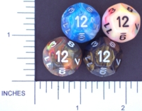Dice : D12 OPAQUE ROUNDED IRIDESCENT CHESSEX MENAGERIE 02