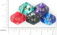 Dice : D10 OPAQUE ROUNDED SWIRL CRYSTAL CASTE JUMBO SILK 02