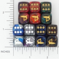 Dice : D6 OPAQUE ROUNDED SWIRL CHESSEX CUSTOM 04 FOR JSPASSNTHRU SHARK