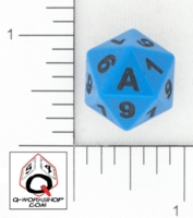 Dice : D20 OPAQUE ROUNDED SOLID Q WORKSHOP UNKNOWN 02